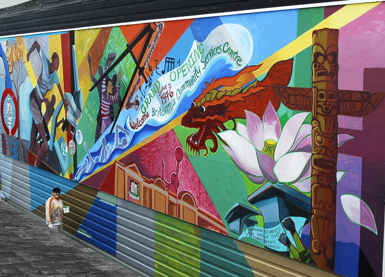 Britannia legacy mural richard tetrault for Community mural ideas