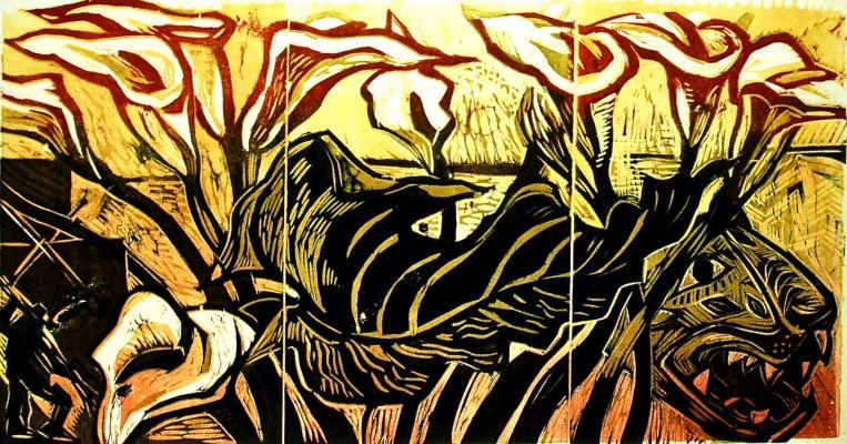 Mexico, print, woodcut,