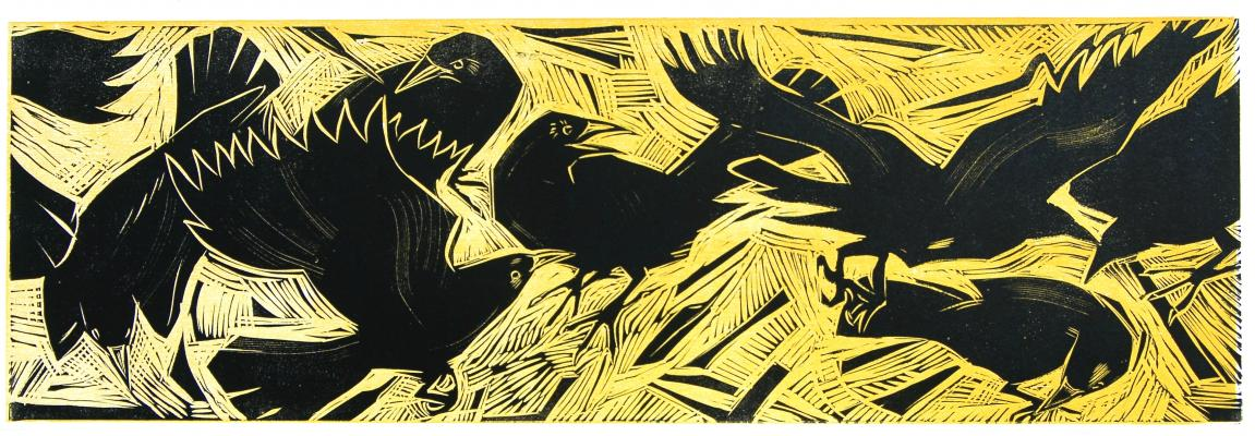 wood and lino cut