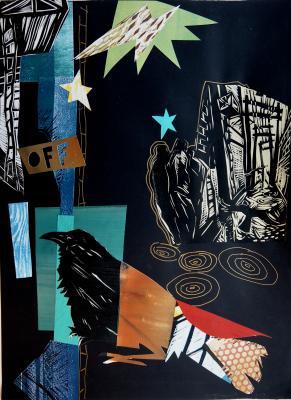 collage work, recent piece