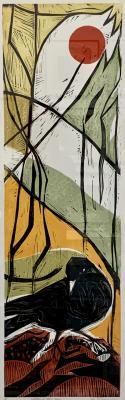 woodcut/collgaph on paper