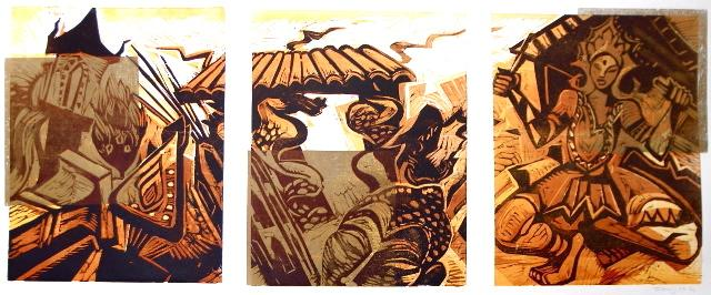 prints, Asia, Woodcut