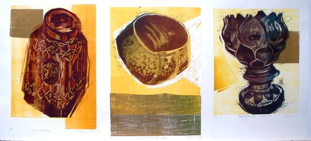 woodcuts, Asian series