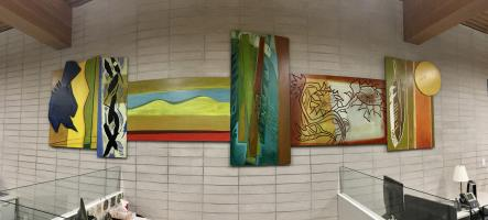 wood relief murals, City of West Vancouver