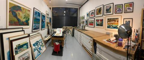 Richard Tetrault-printmaking studio