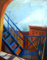 Railway Street    Railway Street, acrylic on canvas